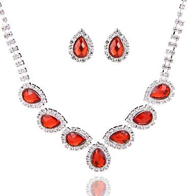Dames Bergkristal Sieraden set omvatten Oorbellen Kettingen - Legering Voor Bruiloft Speciale gelegenheden  Vuosipäivä Verjaardag
