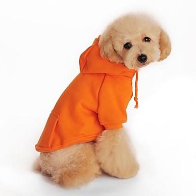 Hund Kapuzenshirts Hundekleidung Schwarz Orange Grau Rot Baumwolle Kostüm Für Haustiere Herrn Damen Urlaub