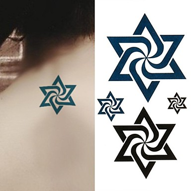 1 Non Toxic Lower Back Waterproof Totem Series Tattoo Stickers