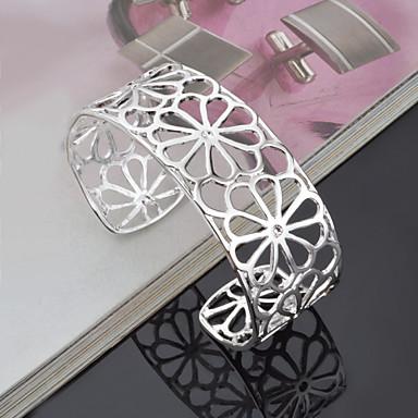 Dames Cuff armbanden Verstelbaar Met de hand gemaakt Open Kostuum juwelen Titanium Staal Legering Sieraden Voor Bruiloft Feest