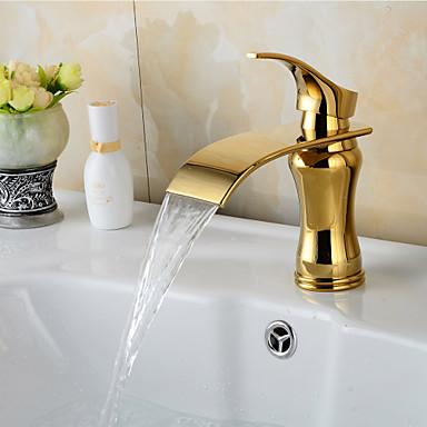 Baderom Sink Tappekran - Foss Ti-PVD Centersat Enkelt Håndtak Et Hull