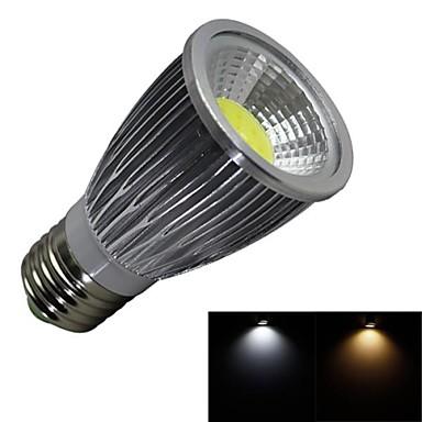 e26 / e27 led spotlight 1 cob 600lm warm wit koud wit 3000-3200k / 6000-6500k ac 100-240v