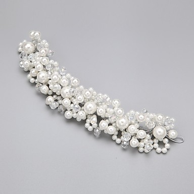 Women's Flower Girl's Alloy Imitation Pearl Cubic Zirconia Headpiece-Wedding Special Occasion Flowers