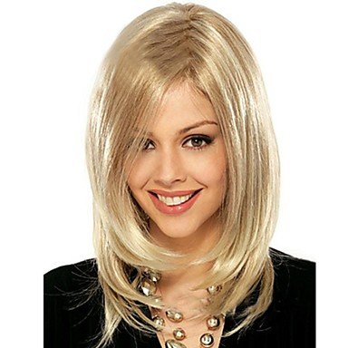 The New European and American Fashion Golden Natural Straight Hair Wig
