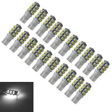T10 Lampe de Décoration 25 SMD 3528 100lm lm Blanc Froid DC 12 V 20 pièces