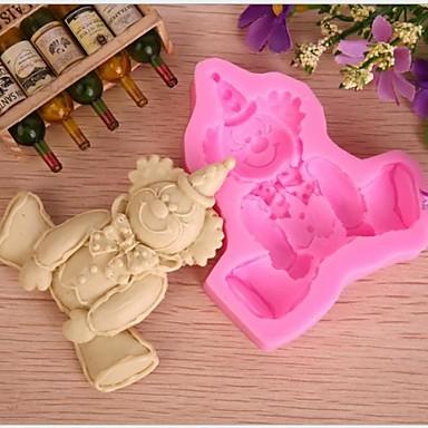 Bakeware verktøy Silikon Gummi Økovennlig / Jul Kake / Til Småkake / Pai Tekneserie Formet Bakeform 1pc