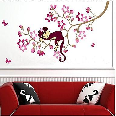 Hayvanlar Botanik Romantizm Natürmort Moda Çiçekler Duvar Etiketler Uçak Duvar Çıkartmaları Dekoratif Duvar Çıkartmaları,Vinil Ev