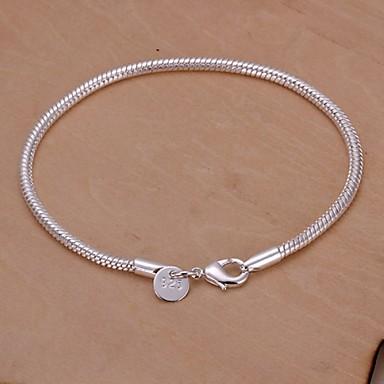 Dame Vedhend Armband - Sølvplett Slange Unikt design, Mote Armbånd Sølv Til Bryllup Fest Daglig