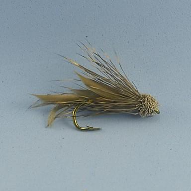 12pcs kahverengi muddler minnow alabalık balıkçılık flama sinek boyutu # 6 uçar