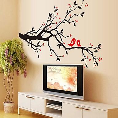 milieu-verwijderbare liefde vogel pvc slaapkamer / woonkamer muur sticker