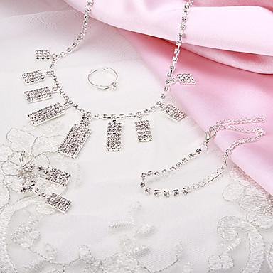 Sieraden Kettingen / Oorbellen / Ringen / Armband Feest / Dagelijks / Causaal Koper 1 Set Dames Zilver Giften van het Huwelijk