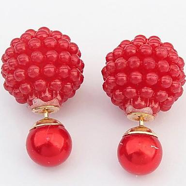 Női Beszúrós fülbevalók aranyos stílus Európai Gyanta Ötvözet Ékszerek Fehér Fekete Barna Piros Rózsaszín Jelmez ékszerek