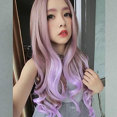 Kobieta Peruki syntetyczne Długo Miks kolorów cosplay peruka Costume Peruki