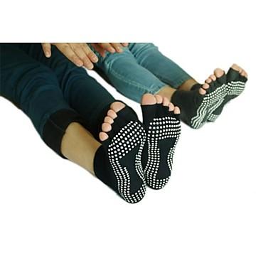 Női Csúszásgátló zoknik / Lábujjas bokazokni - Fekete, Szürke Sport Zoknik Jóga Sportruházat Légáteresztő, Csúszásgátló Nyúlós