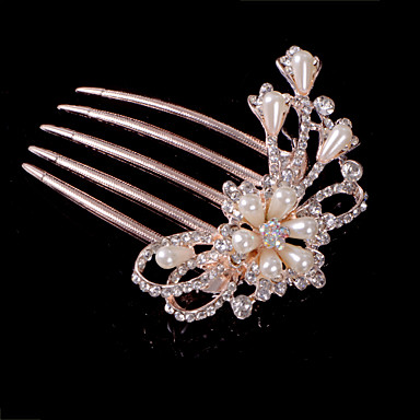 Crystal Fabric Alloy Tiaras Hair Combs 1 Wedding Special Occasion Party / Evening Casual Headpiece