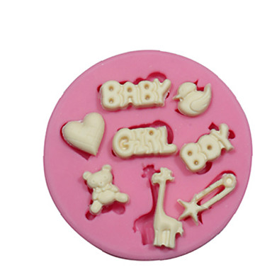 Baby Boy Themed Silicone Mould Silicone Cake Decorating Mold For Fondant Fimo Chocolate Candy