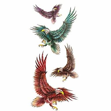 1pc Fashion Waterproof Temporary Tattoos Neck/Wrist/Back/Arm Tattoos Eagle Hawk Body Tattoos(18.5cm*8.5cm)