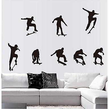 Natürmort Moda Şekiller Nakliye İnsanlar Fantezi Duvar Etiketler Uçak Duvar Çıkartmaları Dekoratif Duvar Çıkartmaları,Vinil Ev dekorasyonu