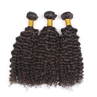 Mongolisches Haar Curly Weave Afro-Frisur Kinky-Curly Menschliches Haar Webarten 3 Stück 0.3