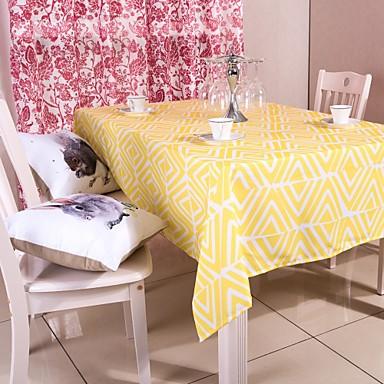 κίτρινο γεωμετρικά τυπωμένο πανί τραπέζι