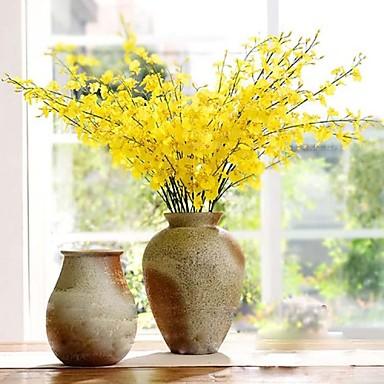 분기 실크 난초 테이블  플라워 인공 꽃