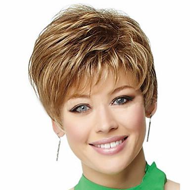 여성 인조 합성 가발 잛은 컬리 금발 코스튬 가발