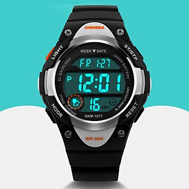 SKMEI Heren Kinderen Digitaal horloge Polshorloge Modieus horloge Sporthorloge Kwarts Digitaal Japanse quartz Alarm Kalender Rubber Band