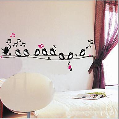 Landskap Dyr Still Life Romantik Mote Former Botanisk Tegneserie fantasi Veggklistremerker Animal Wall Stickers Dekorative Mur