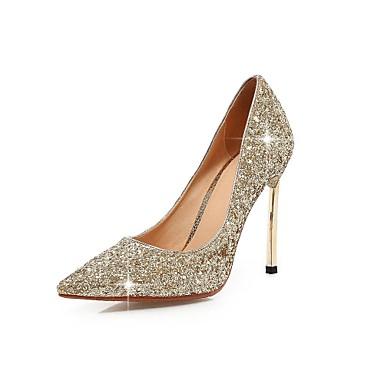 Серебристый / Золотистый - Женская обувь - Для праздника - Лак - На шпильке - На каблуках / С острым носком - Обувь на каблуках