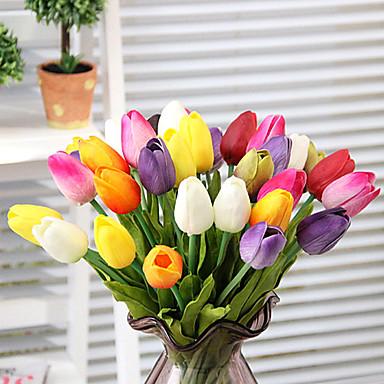 Künstliche Blumen 1 Ast Simple Style Tulpen Tisch-Blumen