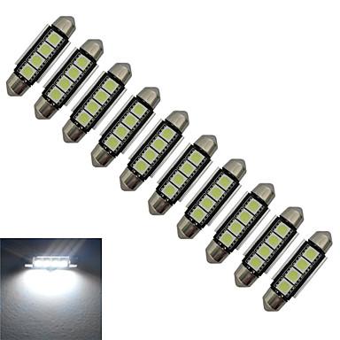 10 Stück 80-90lm Girlande Lichtdekoration 4 LED-Perlen SMD 5050 Kühles Weiß 12V