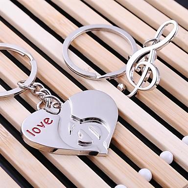 sevgilisi sevgililer günü için kalp müzik düğün anahtarlık Anahtarlık (bir çifti)