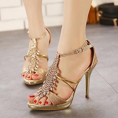 Women's Shoes Stiletto Heel Peep Toe Sandals Dress Rose Gold
