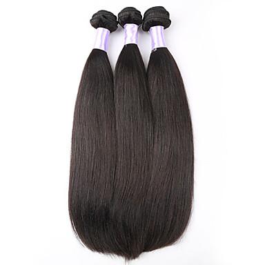 טווה שיער אדם שיער פרואני ישר שישה חודשים 3 חלקים שוזרת שיער