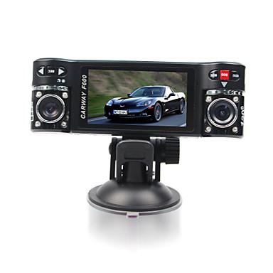 ieftine DVR Mașină-F600 480p G-Sensor / Video Out Car DVR 120 Grade Unghi larg 2.7 inch Dash Cam cu Detector de Mișcare 8 infraroșu LEDs Car recorder