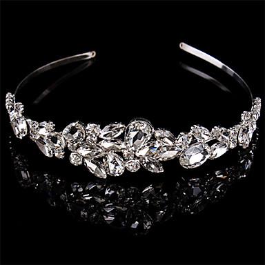 voordelige Haarsieraden-Sterling zilver / Kristal hikinauhat / Hoofddeksels met Bloemen 1pc Bruiloft / Speciale gelegenheden  Helm