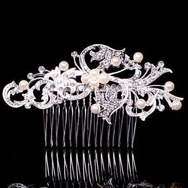 Kristal Kumaş alaşım - Tiaras Saç Combs 1 Düğün Özel Anlar Parti / Gece Günlük Ofis ve Kariyer Dış mekan Başlık