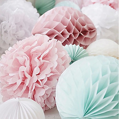 Pearl Paper Wedding Decorations Beach Theme Garden Theme Floral Theme Butterfly Theme Classic Theme Spring Summer Fall Winter