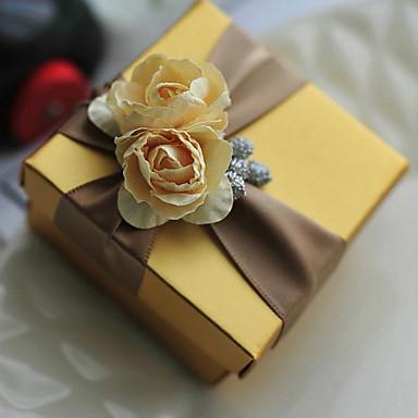Κυκλικό Τετράγωνο Κυβικό Χάρτινη Κάρτα Εύνοια Κάτοχος με Εκτύπωση Λουλούδι Κουτιά Μποπονιέρων Κουτιά Δώρων - 6