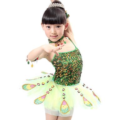 Ballett Kleider Leistung Polyester Tüll Paillette Ärmellos Normal Kleid Armbänder Neckwear