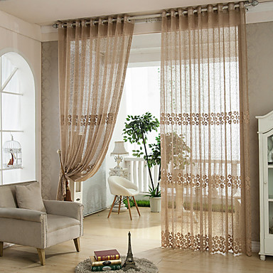 Rod Pocket Grommet Top Tab Top Double Pleat Pencil Pleat Two Panels Curtain Rococo Baroque European Designer Country Modern Neoclassical