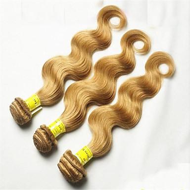 3pcs / lot μέλι ξανθιά κύμα Βραζιλίας σώμα μαλλιά 27 ξανθιά παρθένα μαλλιά και κυματιστή βραζιλιάνα τρίχα 8