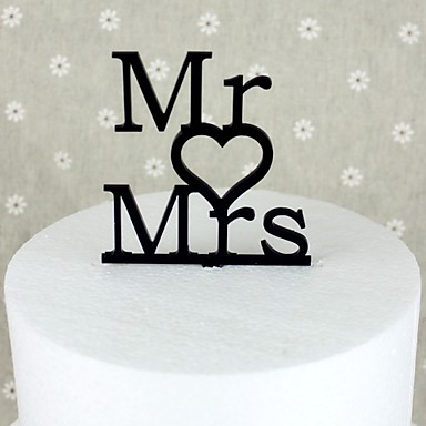 Cake Topper Garden Theme Acrylic Wedding Anniversary Bridal Shower with 1 OPP