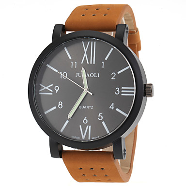 JUBAOLI Мужской Армейские часы Модные часы Кварцевый Кожа Группа