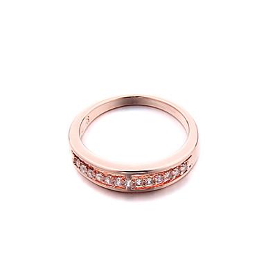 Массивные кольца Мода Циркон Цирконий Платиновое покрытие Искусственный бриллиант Бижутерия Для Свадьба Для вечеринок 1шт