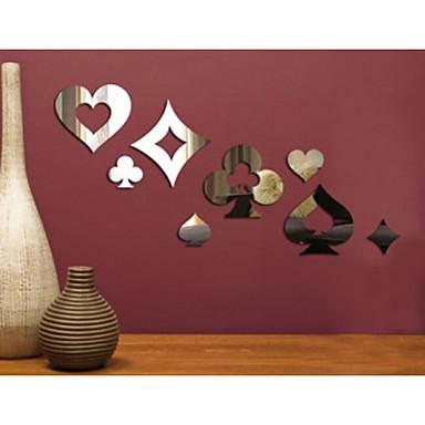 Moda Naklejki Naklejki ścienne: lustro Dekoracyjne naklejki ścienne Materiał Removable Dekoracja domowa Naklejka