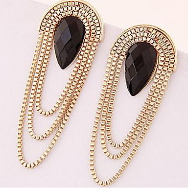 Women's Tassel Drop Earrings - Resin Drop Tassel, Fashion, Statement Gold For