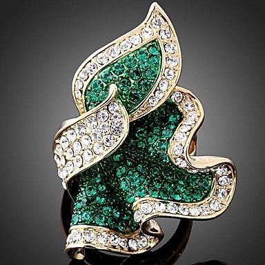 Kadın's Bildiri Yüzüğü - Yapay Elmas, Simüle Elmas, alaşım Lüks, Moda Tek Beden Yeşil / Pembe / Açık Mavi Uyumluluk Parti