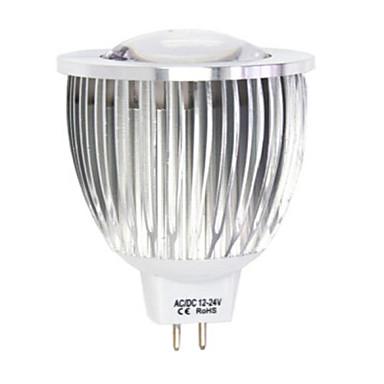4.5W LED Σποτάκια MR16 1LED leds COB Θερμό Λευκό Ψυχρό Λευκό 450-480lm 2800-3500/6000-6500K DC 12 AC 12V
