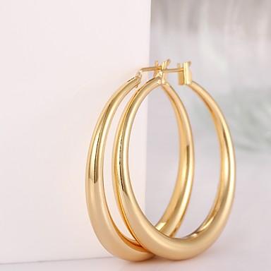 Damen Kreolen - vergoldet, Rose Gold überzogen Modisch Farbbildschirm / Rotgold Für